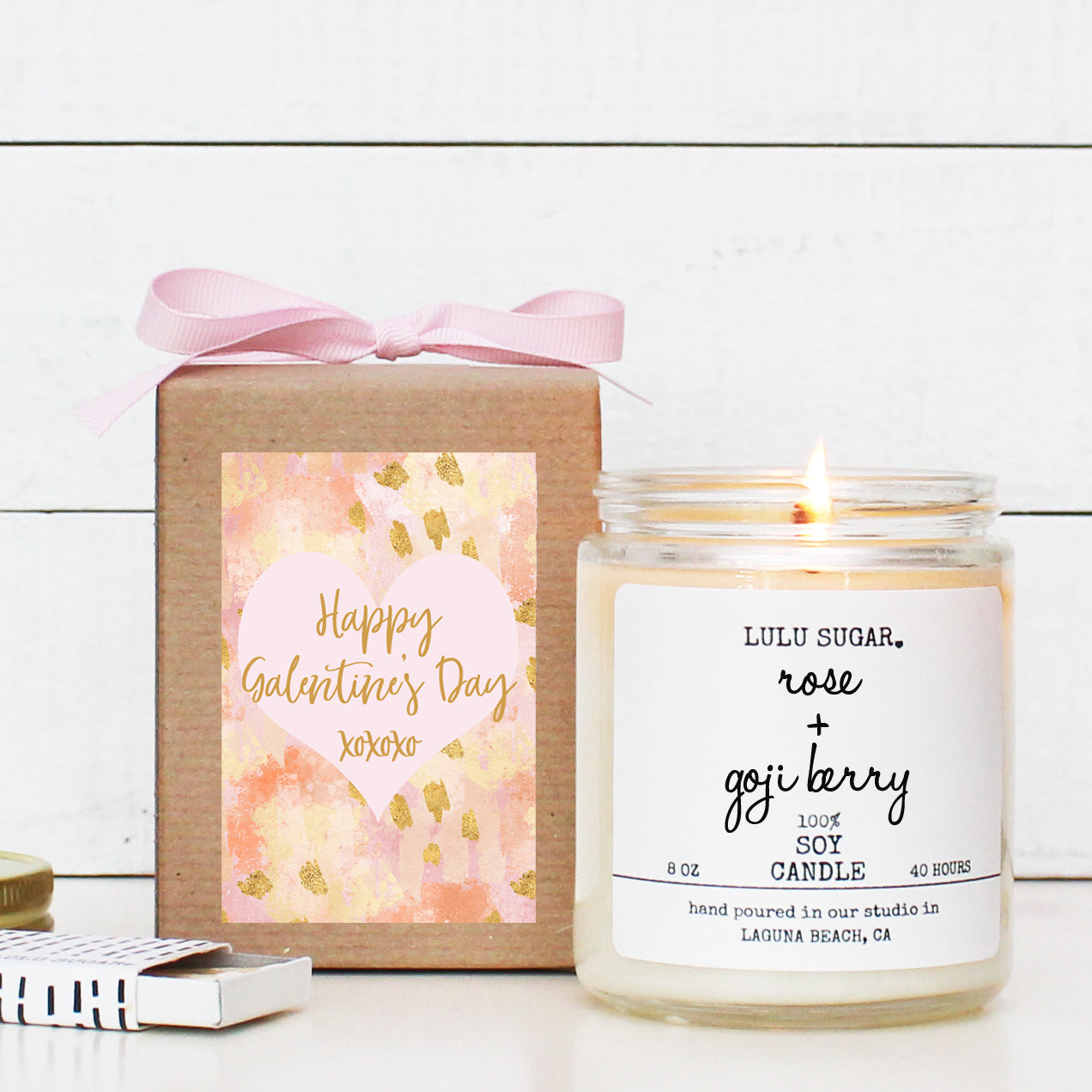 Happy Galentine's Day - 8 oz Soy Candle