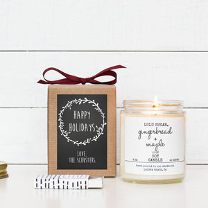 Happy Holidays (Chalkboard) Holiday Candle Gift