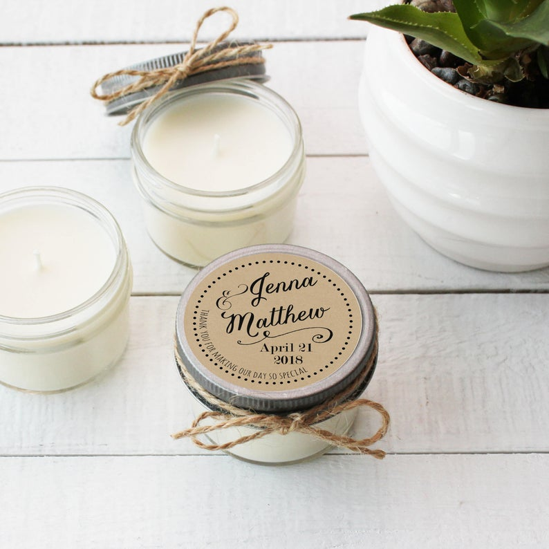 Wedding Favor Candles - Jenna Design