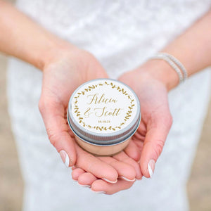 Wedding Favor Candles - Laurel Design