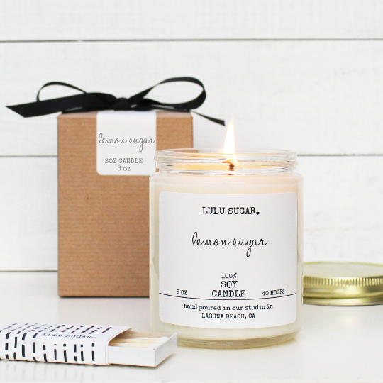 Lemon Sugar 8 oz Candle