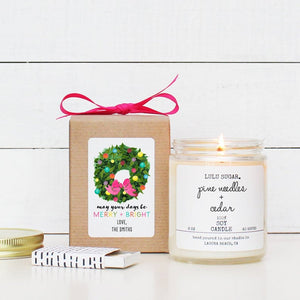 May Your Days Be Merry & Bright Holiday Candle Gift