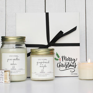 Merry Christmas Candle Gift Set