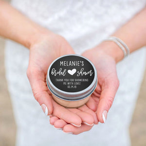 Bridal Shower Favor Candles - Neutral Heart Design
