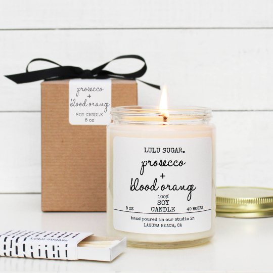 Prosecco + Blood Orange 8 oz Candle
