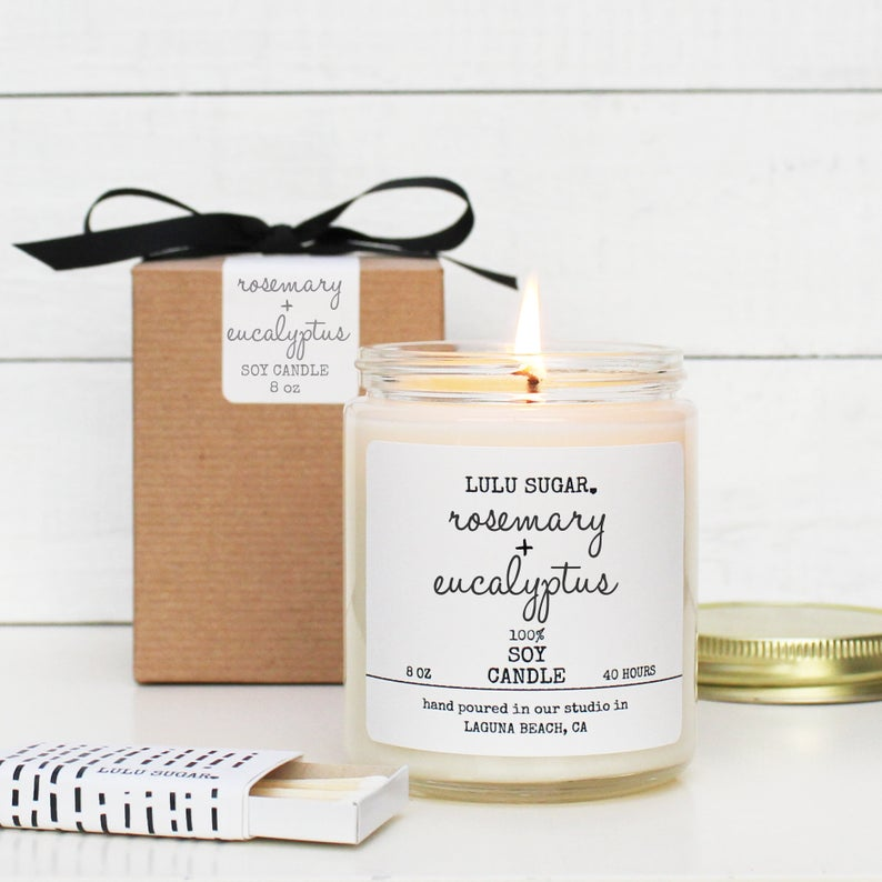 Rosemary + Eucalyptus 8 oz Candle