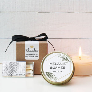 Wedding Favor Candles - Minimalist Design