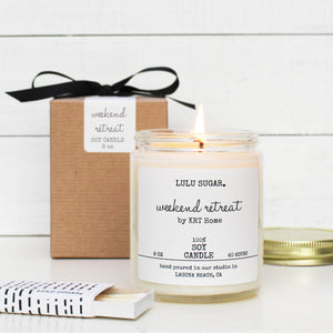 Weekend Retreat by KRT Home - 8 oz Soy Candle
