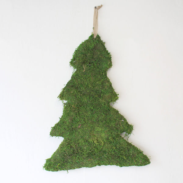 Moss Christmas Tree Door Decor