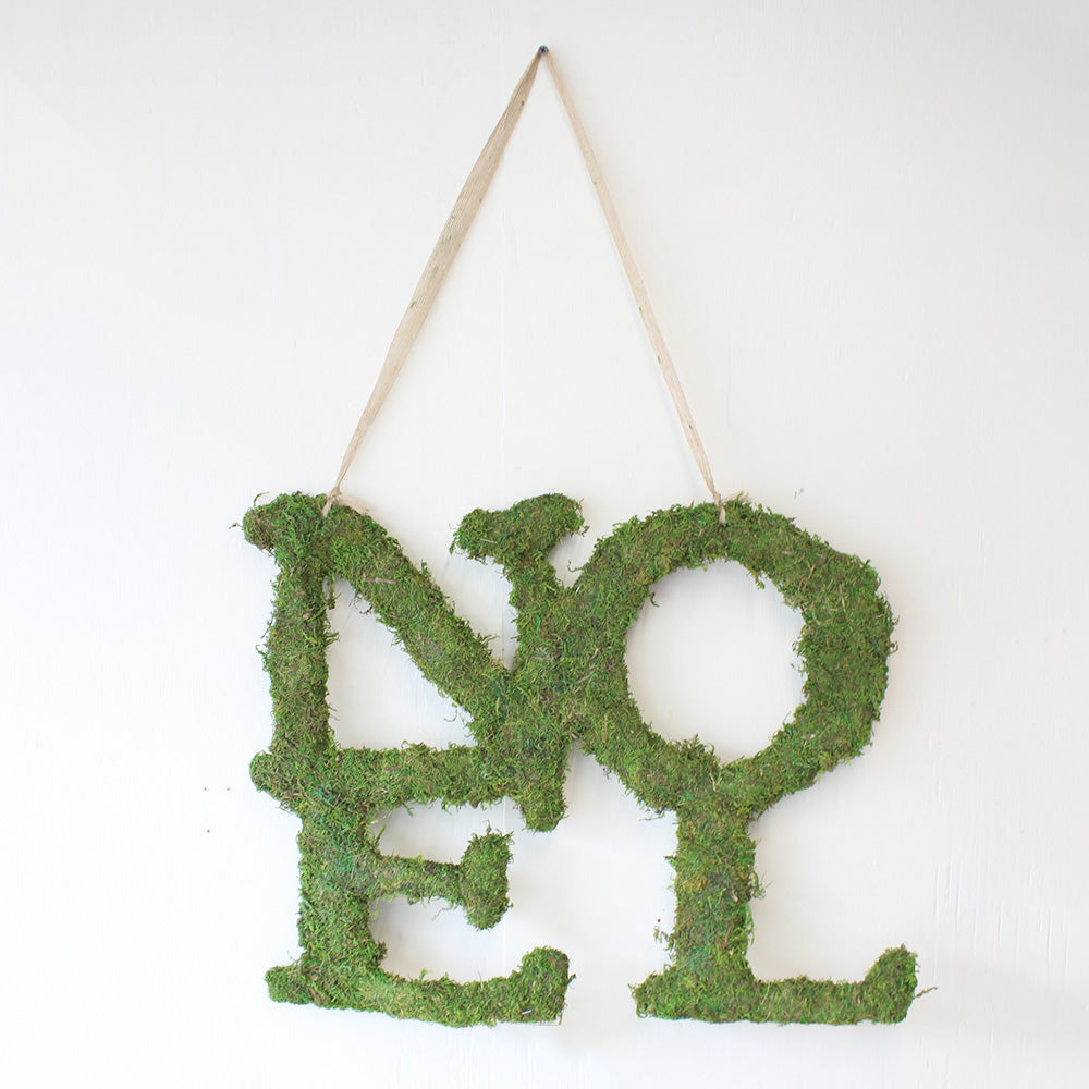 Moss NOEL Door Decor