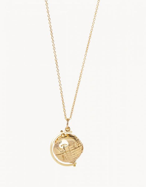 Around the World Revolve Necklace - Gold