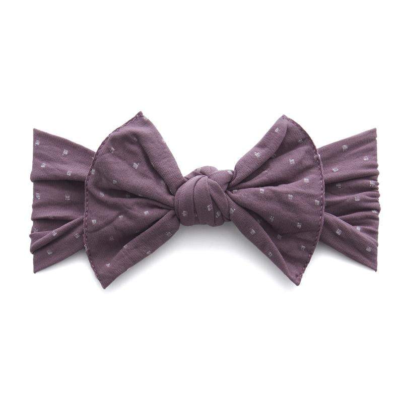 Baby Bling Lilac Dot Patterned Knot