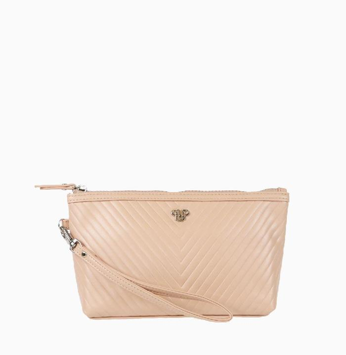 Getaway Wristlet Small Makeup Bag - Pale Pink