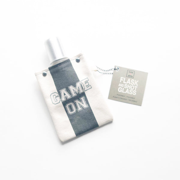 Tote + Able Game On Canvas Flask