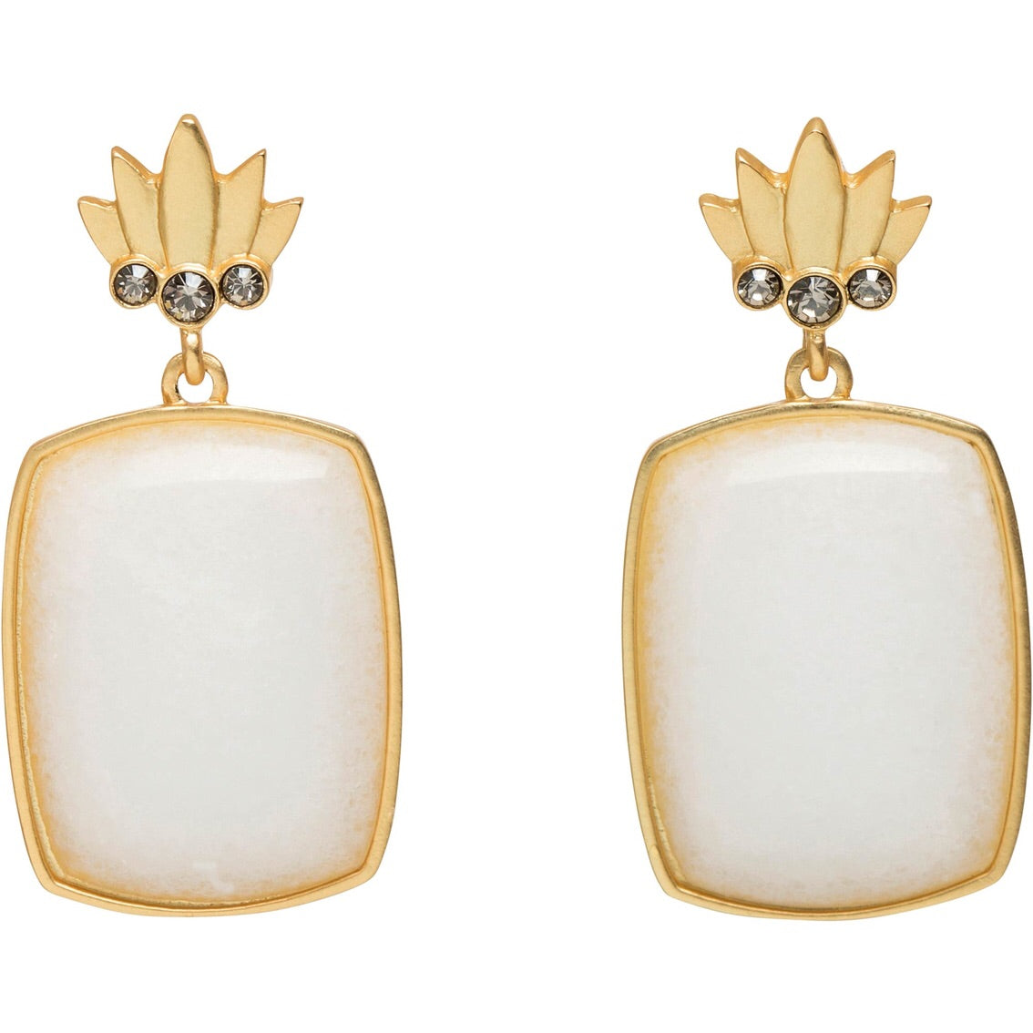 Spartina Pineapple Topped Earrings
