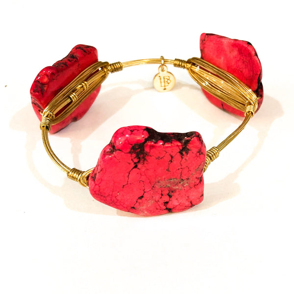 Bourbon and Bowties Large Bracelet - Pink Stone