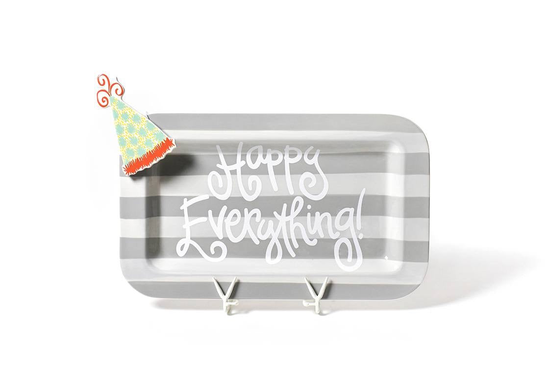 Stone Stripe Happy Everything!™ Mini Rectangle Platter with Pom Hat Mini Attachment