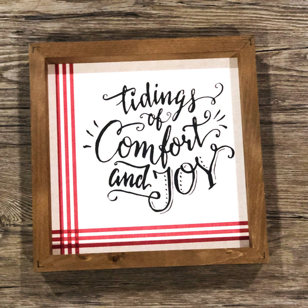 Tidings of Comfort & Joy Sign