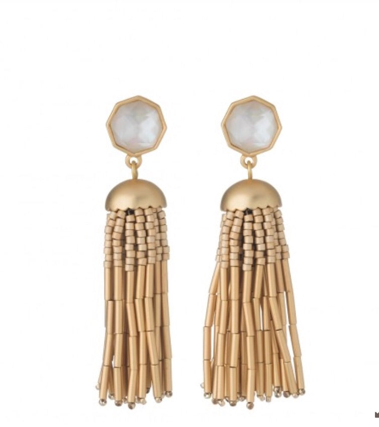 Spartina Jellyfish Tassel Earrings