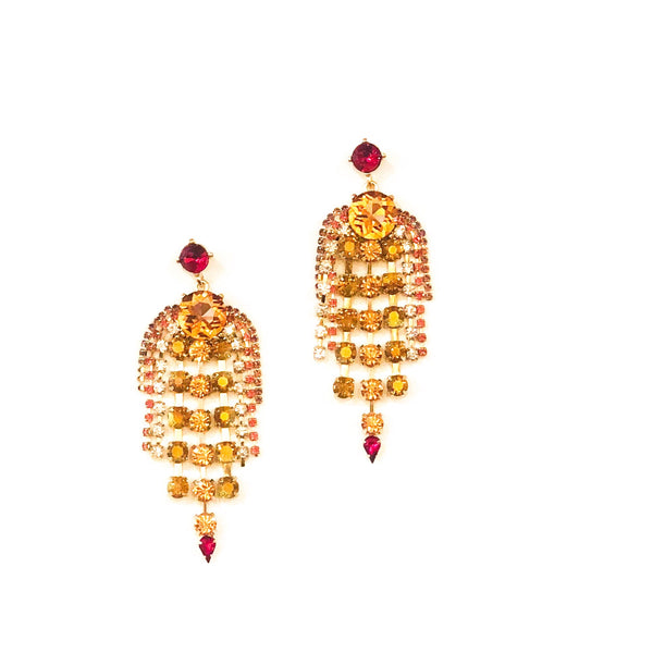 Peach Chandelier Earrings