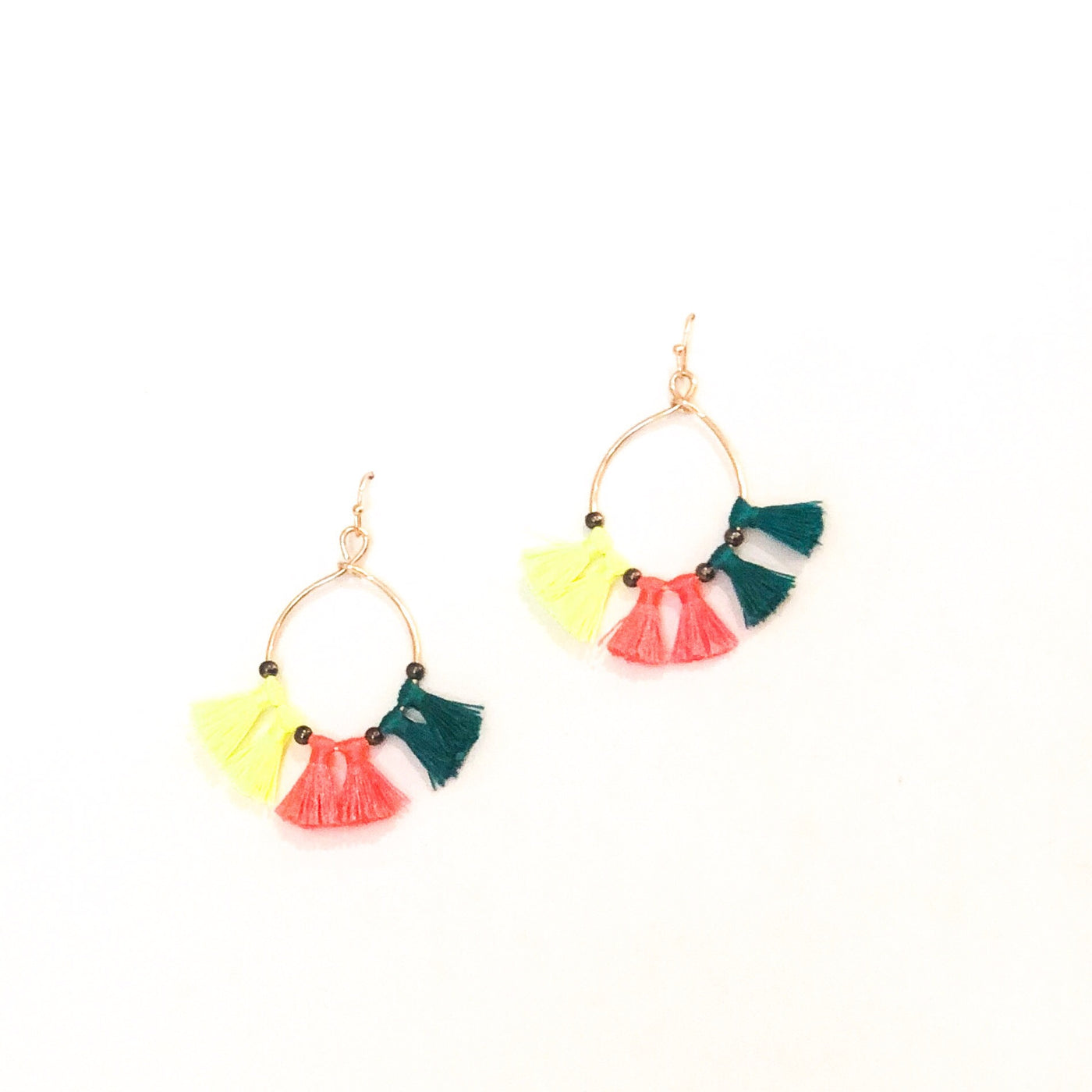 Tassel Teardrop Earrings - Multi