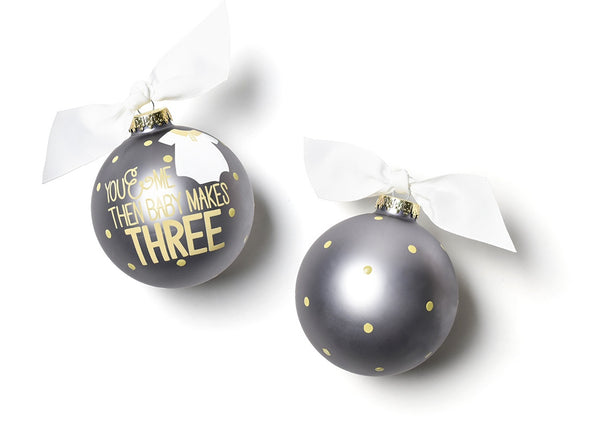 Baby Makes Three Ornament