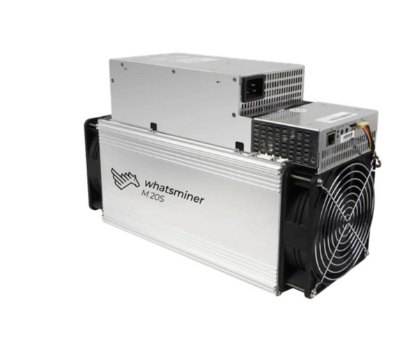 MICRO BT WHATSMINER M20S cryptocurrency ASIC miner mining: Bitcoin, Bitcoin Cash