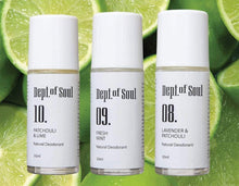 Load image into Gallery viewer, Dept of Soul PATCHOULI & LIME ROLL-ON DEODORANT
