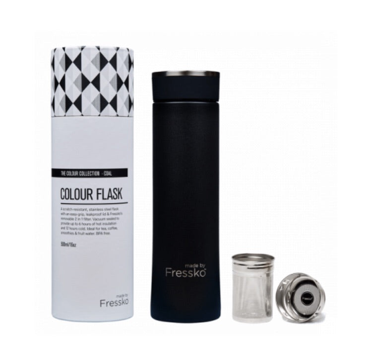 New Stainless Steel Flask Coal 500Ml