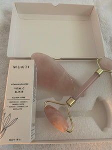 Rose Quartz Facial Roller Kit