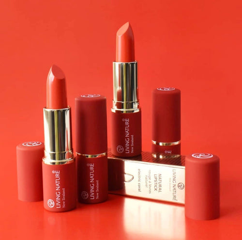Living Nature Christmas Electric Coral Lipstick