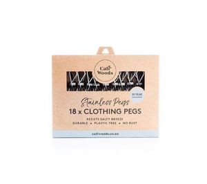 CaliWoods Stainless Clothing Pegs