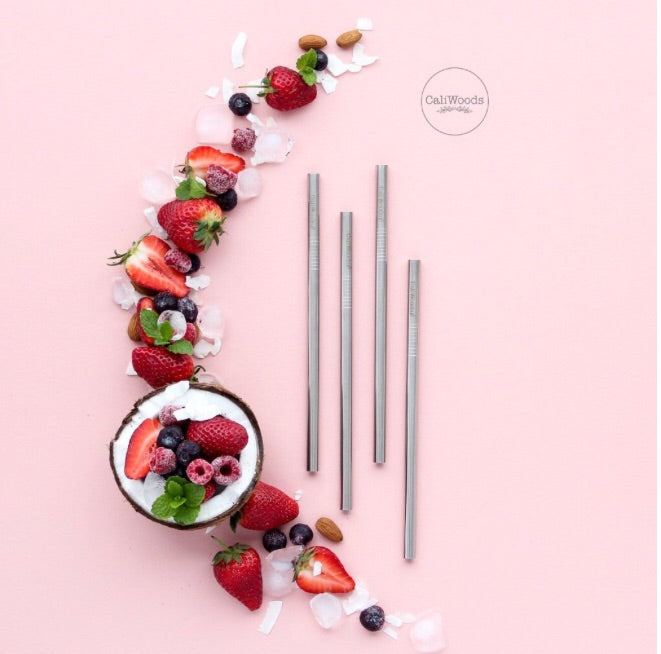CaliWoods Reusable Smoothie Straws!