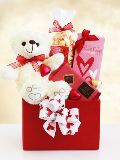 Bear Hugs Valentine's Day Gift Basket