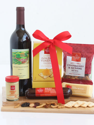Memories of Napa Wine and Cheese Gift Basket