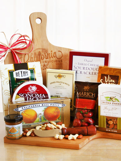 California Cutting Board Cheese Gift Basket