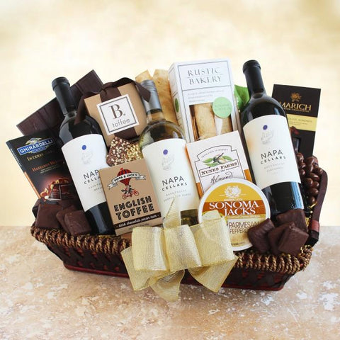 Napa Cellars California Gourmet Wine Gift Basket