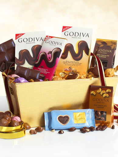 Silky Smooth Godiva Milk Chocolate Gift Basket