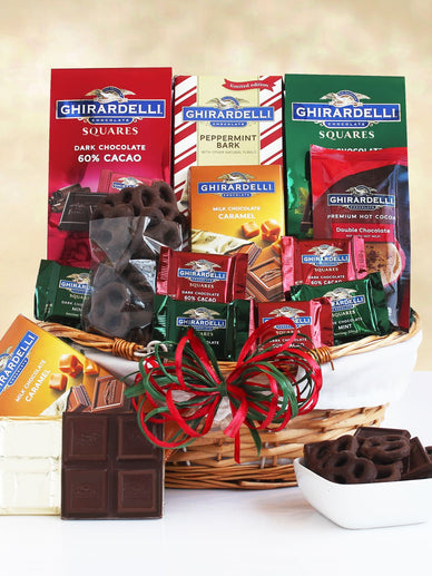 Ghirardelli Chocolate Dream Holiday Gift Basket
