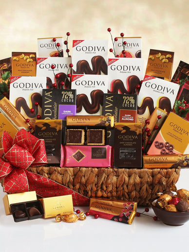 Glorious Godiva Chocolate Holiday Gift Basket