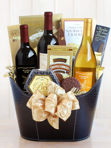 California Wine Country Christmas Gift Basket