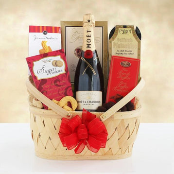 Moet Chandon Celebration Champagne Gift Basket