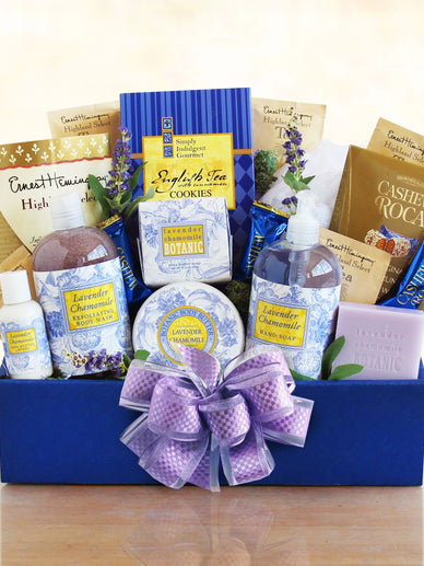 Revitalizing Lavender Spa Gift Basket