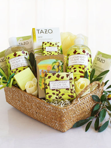 Hint of Cucumber Relaxation Spa Gift Basket