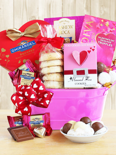 Cupid's Arrow Valentines Day Gift Basket
