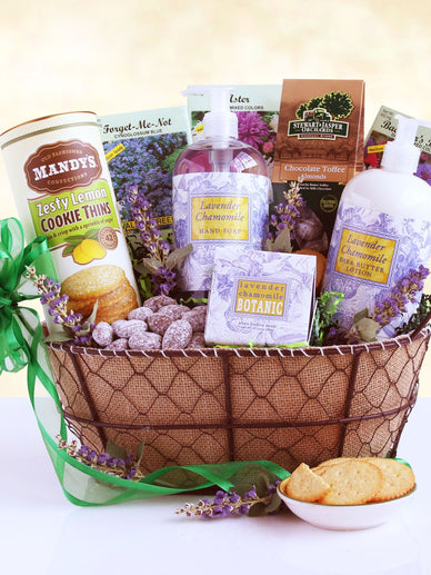Mother's Day Field of Lavender Spa Gift Basket