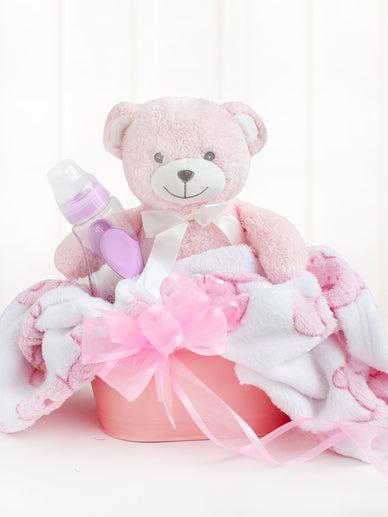 Baby Girl Congratulations Gift Basket