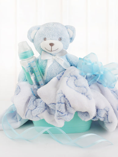 Baby Boy Congratulations Gift Basket