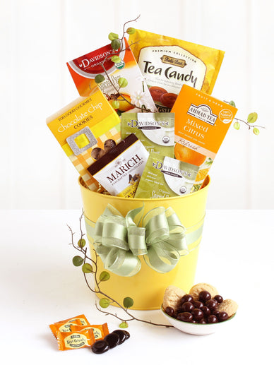 Easter Spring Tea Gift Basket