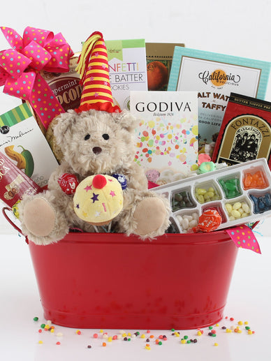 Teddy Bear Treats Birthday Gift Basket